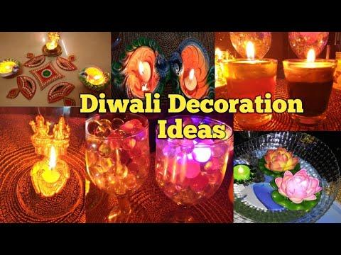 Diwali Decoration Ideas| Diwali sajavat| DIY Candles and Diya |DIY Water Candles| दिवाली सजावट