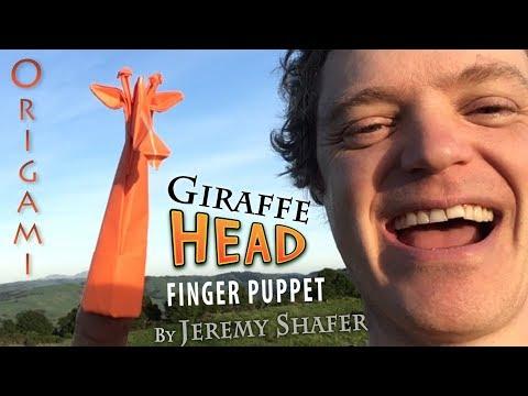 Giraffe Head Finger Puppet