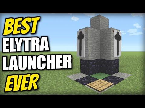 Minecraft - BEST ELYTRA LAUNCHER EVER [Sky Limit=0 seconds] Tutorial