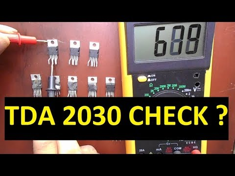 How To Check IC With Multimeter Easily (IC TDA2030 )