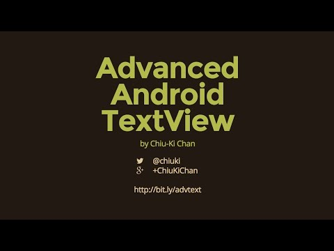 Advanced Android TextView