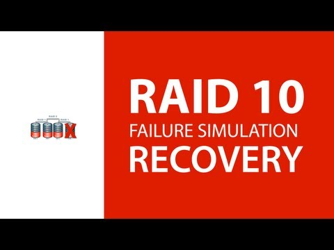 RAID 10 Disk Failure Simulation and Recovery