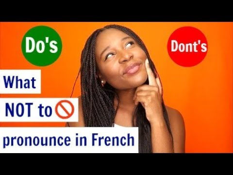 French pronunciation - Silent letters in French