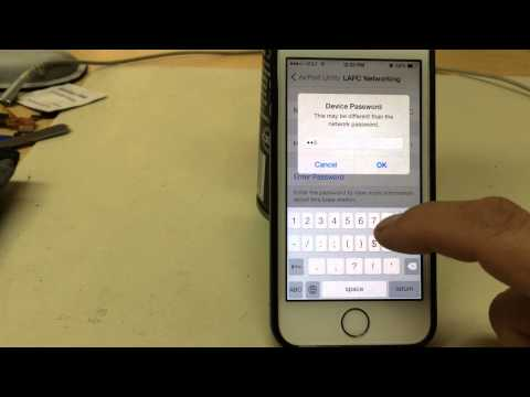 How to change the password on apple modem