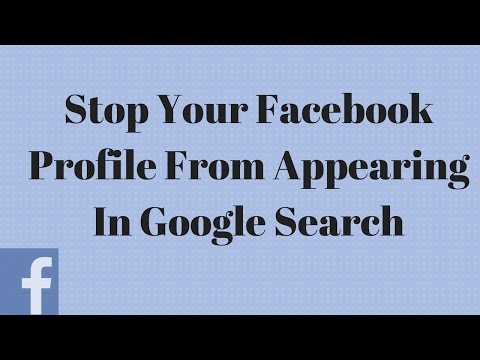 How to Stop Your Facebook Profile from Appearing in Google