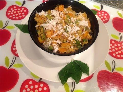 Carrot, beans,muttakos poriyal