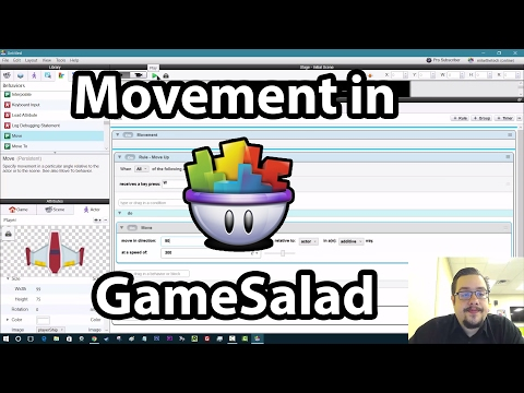GameSalad Tutorial #01 - Movement