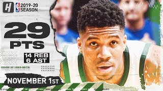 Giannis Antetokounnmpo Full Highlights vs Magic (2019.11.01) - 29 Pts, 6 Ast, 14 Reb!