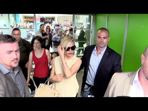 EXCLUSIVE:  Sienna Miller arrives at Nice airport for the Cannes festival