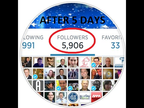 How to get 1000 followers per day on Twitter. Easy trick/hack