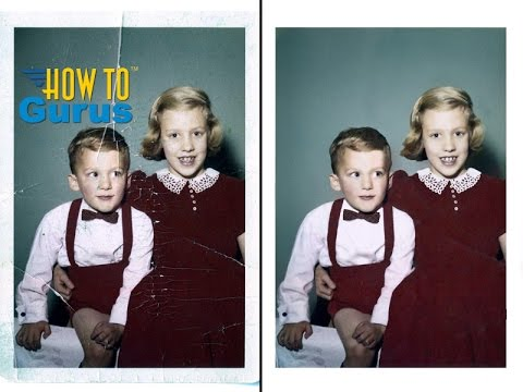 How to Repair and Restore an Old Damaged Photo in Photoshop Elements 2018 15 14 13 12 11 Tutorial