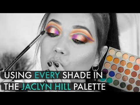 Using EVERY Shade In The JACLYN HILL x Morphe Palette | Challenge