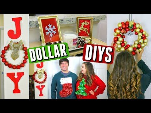 DIY Dollar Tree Christmas Decorations! Cheap Holiday Decor DIYs!