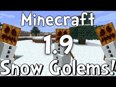 Minecraft Beta 1.9 - Snow Golems!