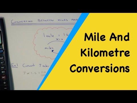 Using 1 Miles = 1.6 Kilometres To Convert Between Miles And Kilometres.