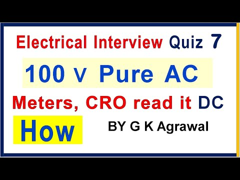 Electrical Eng. questions quiz and answer on AC vs DC