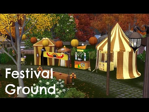 Sims 3 Comunity Lot Building - Festival Ground