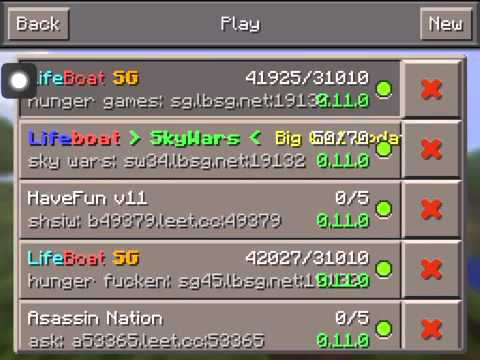 How to join hunger games in minecraft pe iPad, iPhone.
