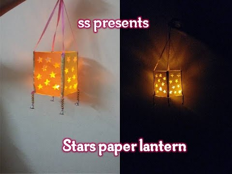 How to make A stars paper lantern /Room decorations / diwali decoration