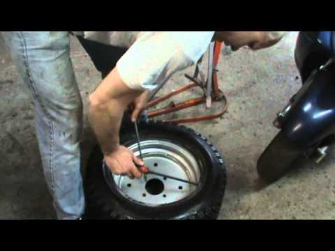 how to put a tube in a tubeless tire