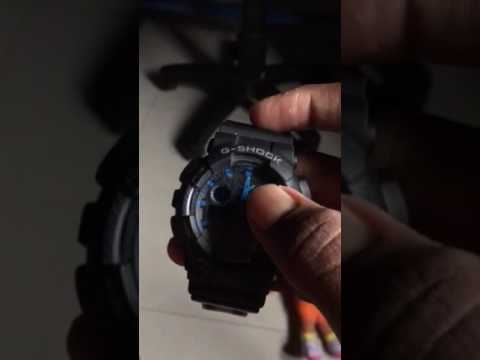 How to sync the analog time with digital in G-Shock