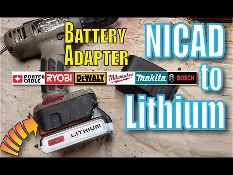 Run Old Cordless Power tools on New LITHIUM
