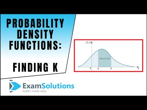 Probability Density Function (p.d.f.) Finding k (Part 2) : ExamSolutions Maths Revision