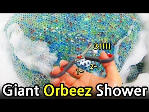 Shower with Giant Orbeez Water Balloon (feat. Mother)