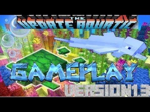 Minecraft 1. 13 Beta Aquatic Update New Items / GamePlay