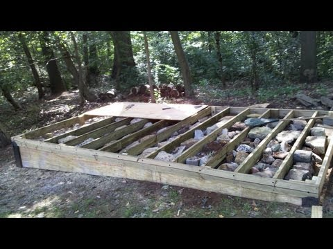 How To Build a Level Shed, tiny houses, barn foundation, platform by Jon Peters