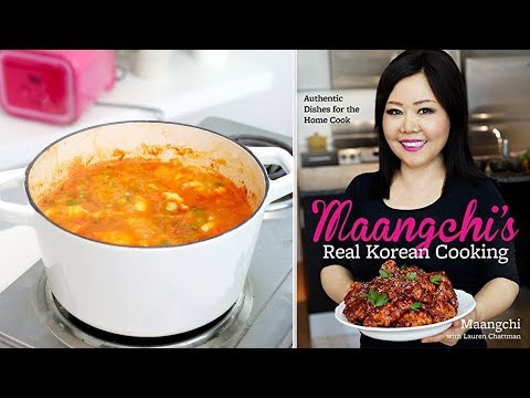 I Tried Making MAANGCHI'S Soft Tofu Stew Recipe!!