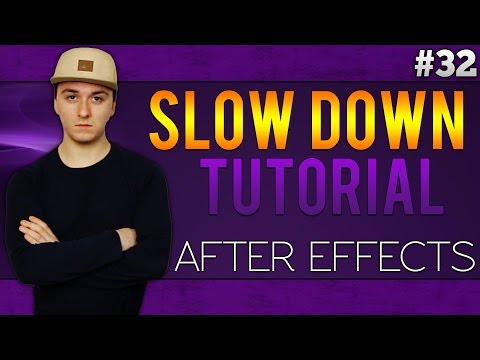 Adobe After Effects: How To Slow Down Clips - Tutorial #32
