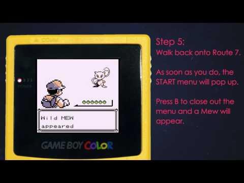 How To Catch Mew - The Mew Trick - Pokemon Red/Blue/Yellow Glitch