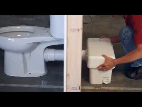 Liberty Pumps Ascent II 1.28 GPF Macerating Toilet System - Install a Bathroom Anywhere