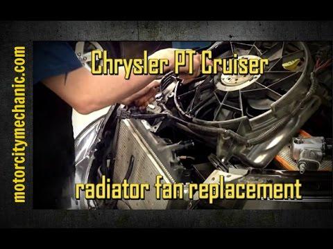 Chrysler PT Cruiser radiator fan replacement