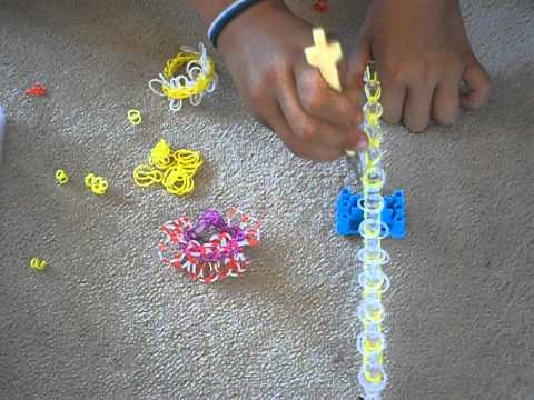 How to make a Daisy Chain loomband bracelet