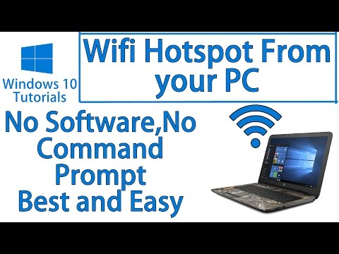 How to Turn on WiFi hotspot on your Windows 10 PC | No Software | No Command Prompt | Latest 2016