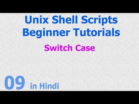 09 - Unix Shell Scripts - Switch Case Statement