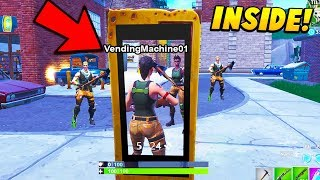 Download I Glitched INSIDE a Vending Machine To ELIMINATE Players.. (Fortnite Battle Royale) Video