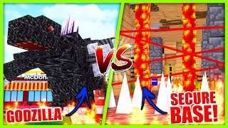 Minecraft -MOBZILLA TRIES TO DESTROY OUR BASE!