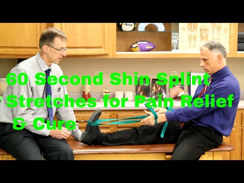 60 Second Shin Splint Stretches for Pain Relief & Cure (Self-Treatment)