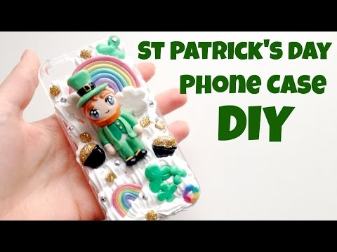 St. Patrick's Day Decoden Phone Case DIY