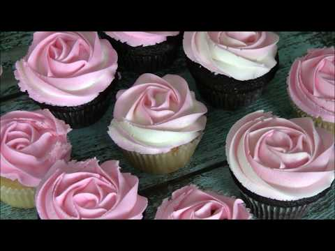 How to Pipe a Rose Swirl on a Cupcake by Emma's Sweets