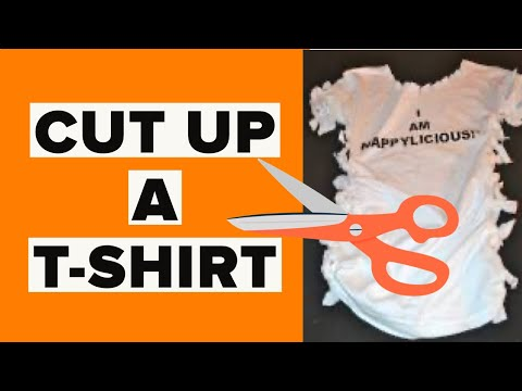 DIY t-shirt Reconstruction | How To TIE a FITTED t-shirt from a larger tshirt