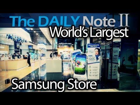 The World's Largest Samsung Store: Samsung d'light shop in Gangnam, Seoul, South Korea