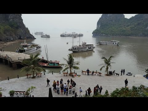 Halong Bay Vietnam cruise and the Vinpearl Hotel January 2017 with Phil and Gina
