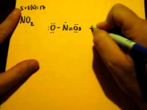 Lewis Dot Structure of NO2 (Nitrogen Dioxide)