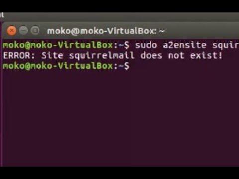 Solve Apache (a2ensite) - ERROR: Site squirrelmail does not exist!