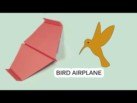 Origami for Kids | How to Make a Paper airplane that Flies far - Like a Bird