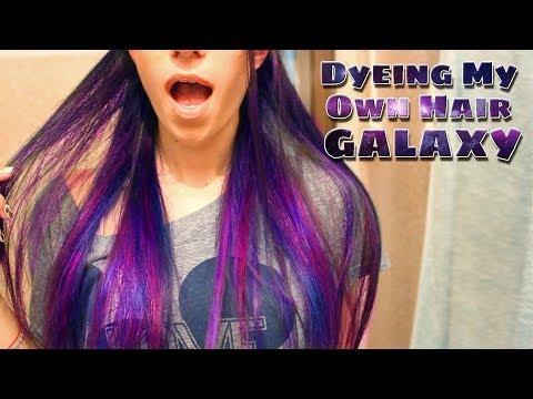 Dyeing My Own Hair Purple, Pink And Blue! | MakeupAndArtFreak